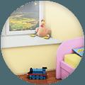 Подоконники в детская комната